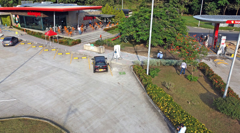 Con Terpel Voltex Melgar estrena estación de carga para vehículos eléctricos